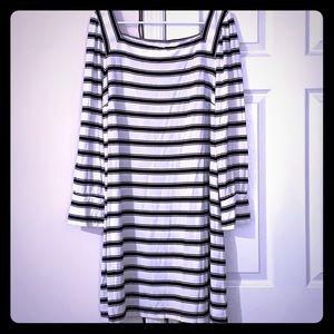 Loft Striped L/S Dress